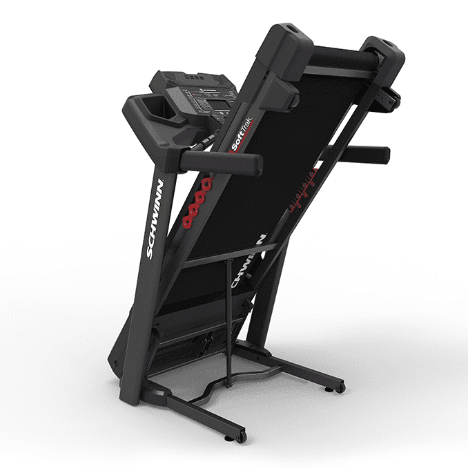 Folded Black Schwinn 830 Treadmill