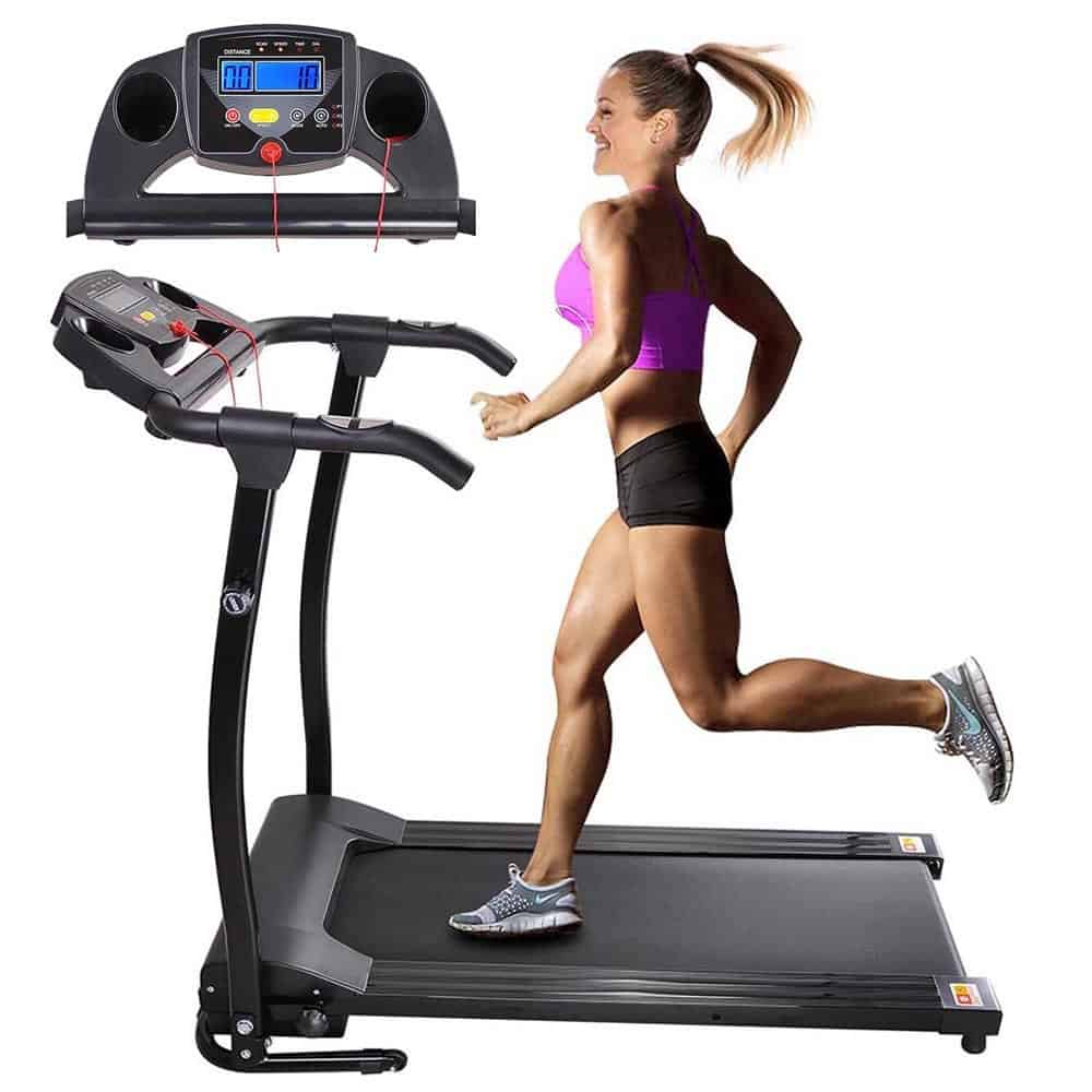 AW 1100W Folding Electric Treadmill